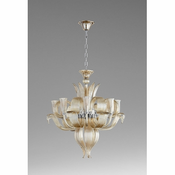 Juliana 8 Light Glass Chandelier by Cyan Design