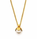 Julie Vos Penelope Pendant Necklace with Pearl