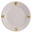 Juliska Acanthus Dessert or Salad Plate - Whitewash and Gold