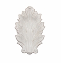 Juliska Acanthus Whitewash 7 in. Leaf Tray