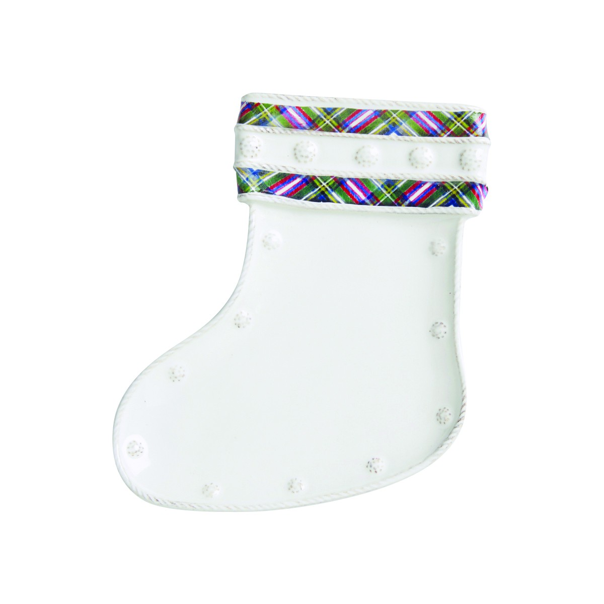 Juliska Berry & Thread Whitewash Christmas Stocking Party Plate $36 ...