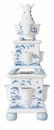 Juliska Country Estate Delft Blue Tulipiere Tower Set of 3 Garden Follies