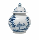 Juliska Country Estate Medium Lidded Ginger Jar Garden Follies Delft Blue