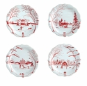 Juliska Country Estate Party Plate Set/4 Ruby