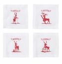 Juliska Country Estate Reindeer Games Solo Sports Cocktail Coasters Set of 4 (Golf  Tennis  Skiing and Rudolph)