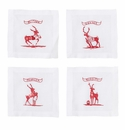 Juliska Country Estate Reindeer Games Team Sports Cocktail Coasters Set of 4 (Football  Baseball  Soccer and Rudolph)