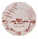Juliska Country Estate Scallop Dinner Plate - Christmas Eve Ruby