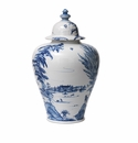 Juliska Country Estate Tall Lidded Ginger Jar Estate Grounds Delft Blue