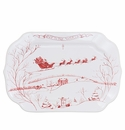 Juliska Country Estate Winter Frolic Ruby Gift Tray Joy to the World