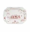 Juliska Country Estate Winter Frolic Ruby Gift Tray Love & Joy