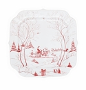 Juliska Country Estate Winter Frolic Ruby Santa�s Cookie Tray Naughty and Nice List