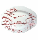 Juliska Country Estate Winter Frolic Ruby Serving Platter Christmas Eve