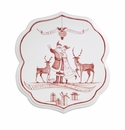 Juliska Country Estate Winter Frolic Ruby Trivet Under the Mistletoe