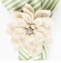 Juliska Dahlia Napkin Ring Natural