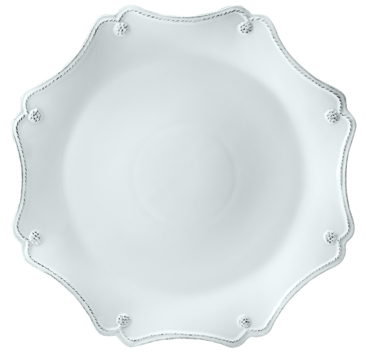 sc 1 st  Distinctive Decor & Juliska Dinnerware Berry and Thread Scallop Charger Plate - Whitewash