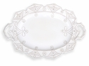 Juliska Dinnerware Jardins du Monde Large Handled Turkey Platter - Whitewash
