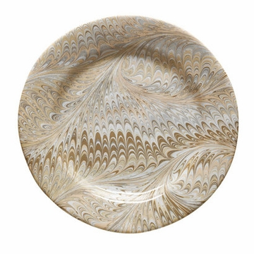 Juliska Firenze Marbleized Charger or Server Plate Cappuccino