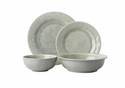 Juliska Puro Grey Mist Crackle 4pc Setting (KS01/93  KS02/93  KS07/93  KS08/93)