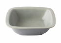 "Juliska Puro Mist Grey Crackle 10.5"" Rounded Square Serving Bowl"