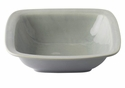 "Juliska Puro Mist Grey Crackle 12.5"" Rounded Square Serving Bowl"