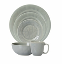 Juliska Puro Mist Grey Crackle 5pc Setting (Dinner Dessert Side Cereal Cofftea )
