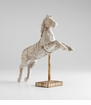 Jumping Horse Wood Sculpture by Cyan Design