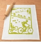 Kei & Molly Bikes Green Flour Sack Towel