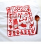 Kei & Molly San Pascual Red Flour Sack Towel