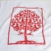 Kei & Molly Tree Of Life Red Flour Sack Towel