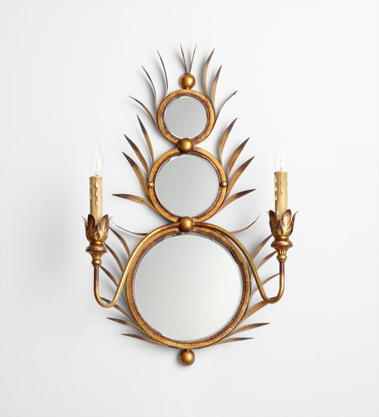 Mirror Sconces Wall Decor : Kingston Mirror Wall Mount Sconce by Cyan Design