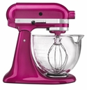 KitchenAid Artisan Design 5 Qt. Stand Mixer with Glass Mixing Bowl - Raspberry Ice