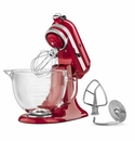 KitchenAid Artisan Design Stand Mixer 5qt. Glass - Candy Apple Red