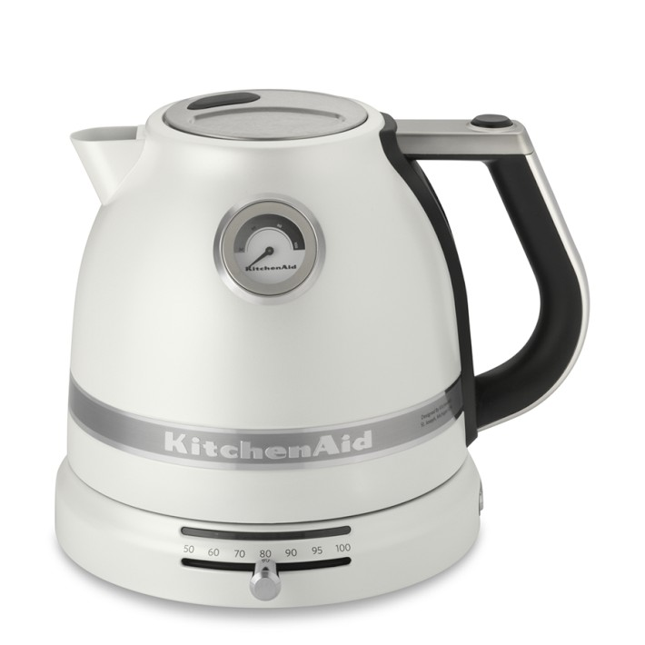 Kitchenaid Electric Kettle ~ Kitchenaid pro line electric kettle frosted pearl white