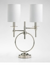 Knox Double Chrome Table Lamp by Cyan Design