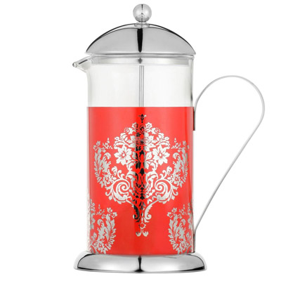 La cafetiere red damask 8 cup french press - La cafetiere french press ...