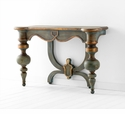 Lacroix Ornate Blue Wood Console Table by Cyan Design