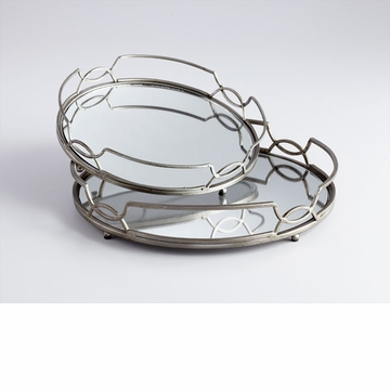 Lady Anne Stainless Mirrored Trays by Cyan Design