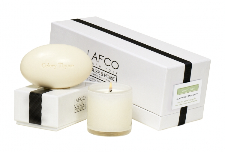 Lafco House Home Candle Soap Gift Set Dining Room