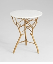 Langley White Granite Side Table by Cyan Design
