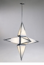 Large 6 Light Star Chrome Pendant Light by Cyan Design