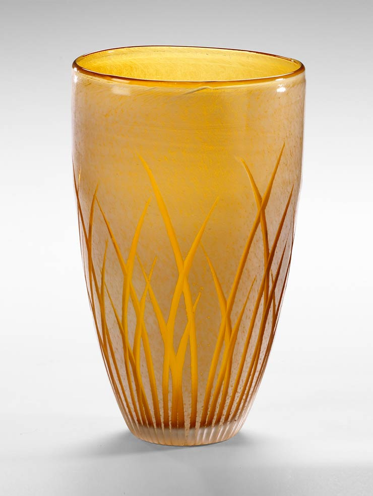 Large aquarius amber glass vase by cyan design - Large decorative vases and urns ...