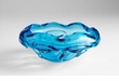Large Blue Art Glass Decorative Bowl by Cyan Design
