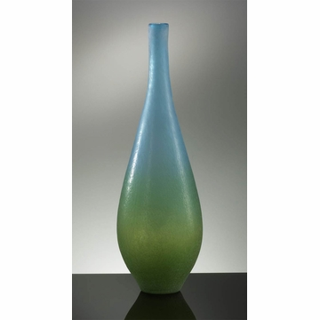 Large Blue Green Glass Vase Vizio by Cyan Design