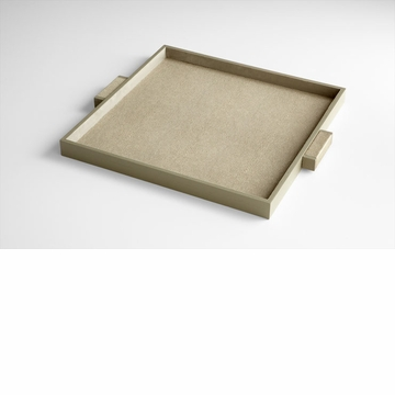 Large Brooklyn Shagreen Leather Tray by Cyan Design