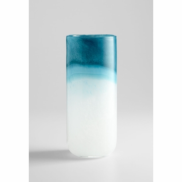 Large Cloud Blue Glass Vase by Cyan Design