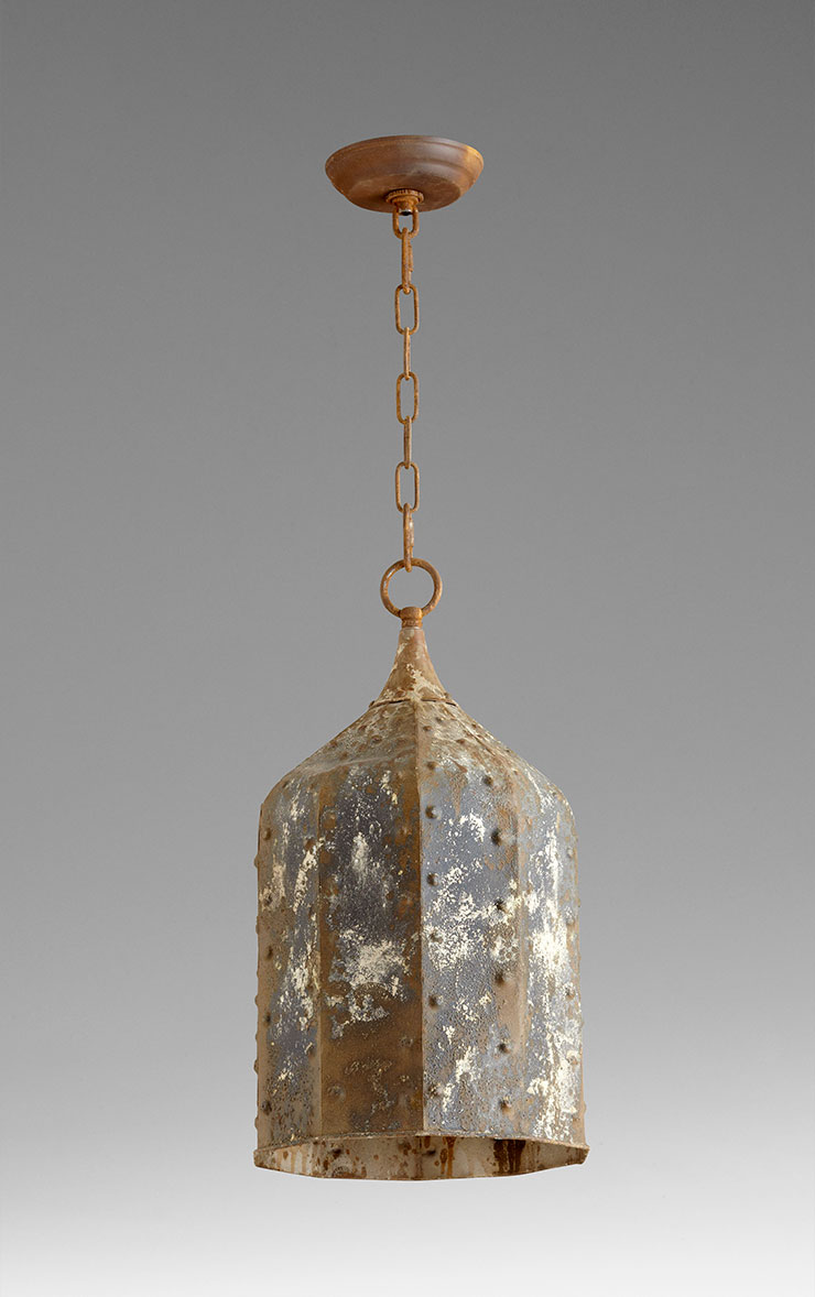 Large Collier 1 Light Rustic Pendant Light By Cyan Design