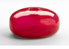 Large Contemporary Red Glass Container by Cyan Design
