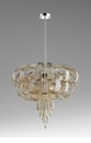Large Curled Glass Chandelier by Cyan Design