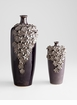 Large Daisy Black Ceramic Vase by Cyan Design (Small Daisy Vase Sold Separately)