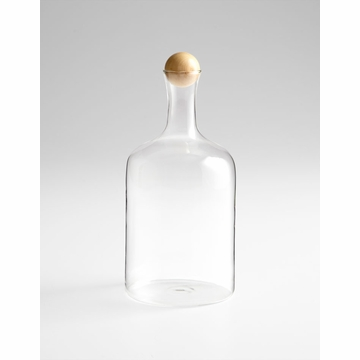 Large Decanter With Wood Stopper by Cyan Design